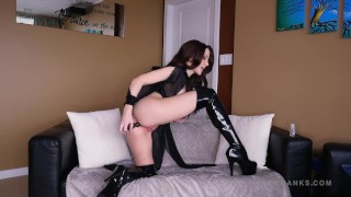 Black Boots Anal Dildo JOI