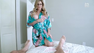 Step Mom Catches Me Jerking Off To Porn And Takes Over – Cory Chase
