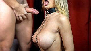 Rough Deepthroat & Sloppy FACEFUCK And POV Missionary Sex With Big Boobs Girl