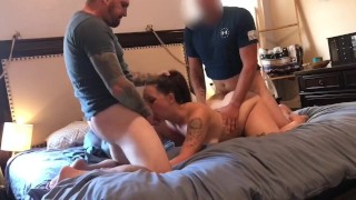 Real Amateur Hotwife Shared With Friend – Bareback DP And Taking Turns Cumming In Pussy