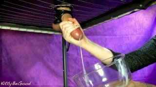 Sensual Edging Torture – Frenulum Play With Nails (Milked Into A Bowl)