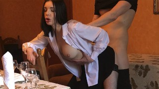Sex With My Boss In The Restaurant