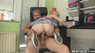Guy Caught His Blonde Gf Riding Another Dick