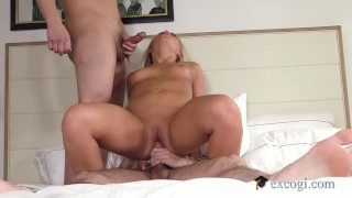 Red Hot Blonde Brianna Gets Double Penetrated